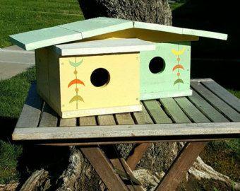 Mid century modern birdhouse reclaimed by TheBirdmanOfOrange