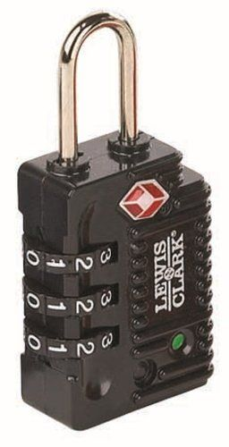 Lewis N Clark TSA  Indicator  3 Dial Combination Lock Black >>> More info could be found at the image url.