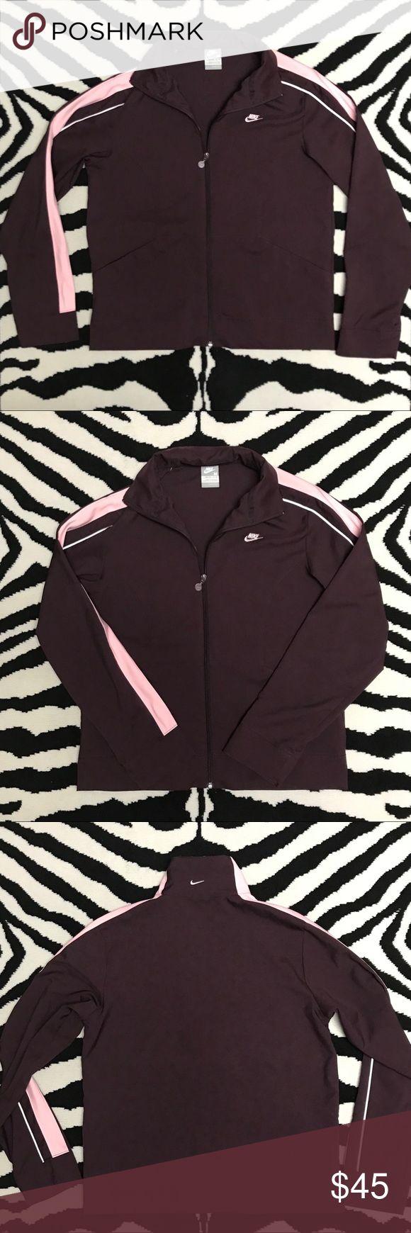 Vtg Nike Track Jacket Vtg Nike Silver Tag Track Jacket. Eggplant & Pink, nylon full zip track jacket. Size Medium 8-10 Nike Jackets & Coats