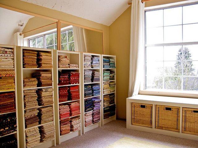 pretty color organized fabric!