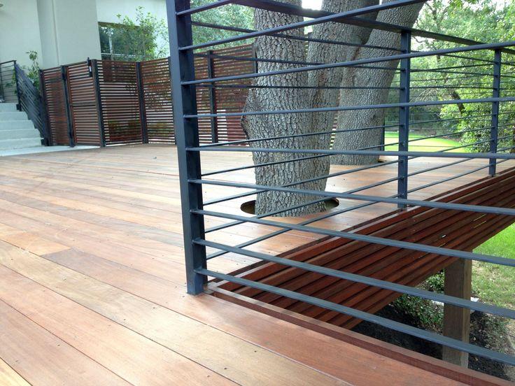 Ipe Wood Deck and Custom Screen Fence |