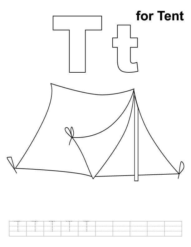 t is for tent | Pre-writing skills | Pinterest | Tents and ...