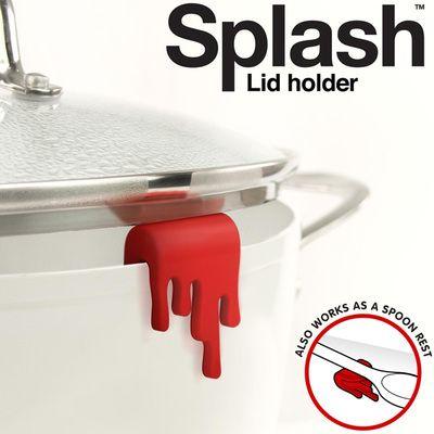 Red Splash Lid Holder - Set of 2 #kitchengiftco