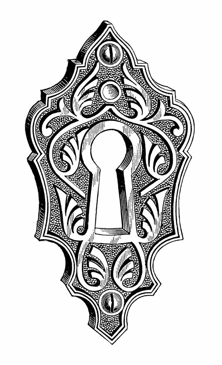 Sisters' Warehouse: Illustrazioni Vintage in Bianco e Nero, Chiavi e Serrature - Vintage Illustrations in Black and White, Keys and Keyholes...