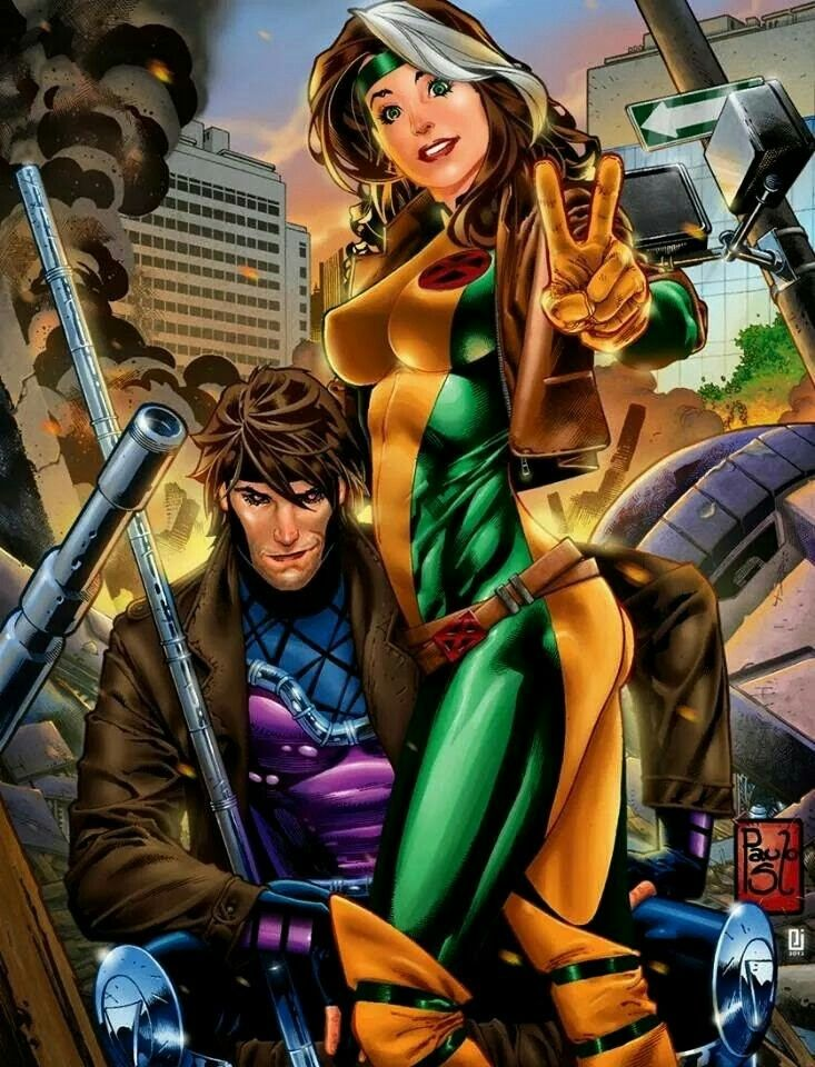 Gambit & Rogue by Paulo Sequeira