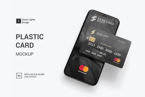 Credit Bank Card Mock Up Creative Photoshop Templates Creative Market In 2021 Plastic Card Bank Card Membership Card
