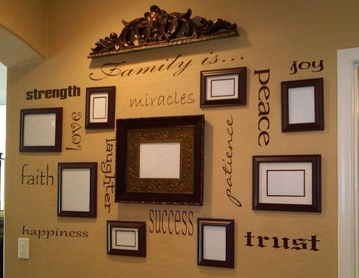"Make a statement in your house with a wall collage of insipirational words to surround all of your cherished pictures!<br><br>You will get all of the following words in your choice of color to match your home decor:<br><br>Family is... - 36"" X 5"" <br>Strength - 16"" X 3"" <br>Love - 9"" X 4.5"" <br>Miracles - 15"" X 3"" <br>Faith - 10"" X 5"" <br>Laughter - 17"" X 4"" <br>Happiness - 19"" X 3"" <br>Success - 10"" X 5"" <br>Trust - 14"" X 3"" <br>Patience - 18"" X 4"" <br>Peace - 15"" X 3"" <br>Joy - 6"" X…"