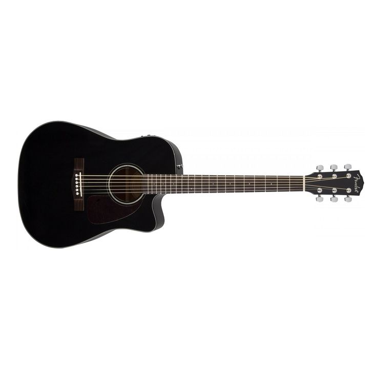 Fender CD-140SCE Acoustic Electric Guitar in Black