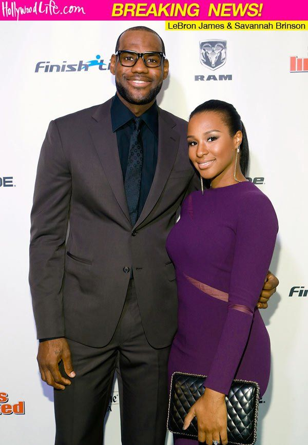 LeBron James and wife Savannah James
