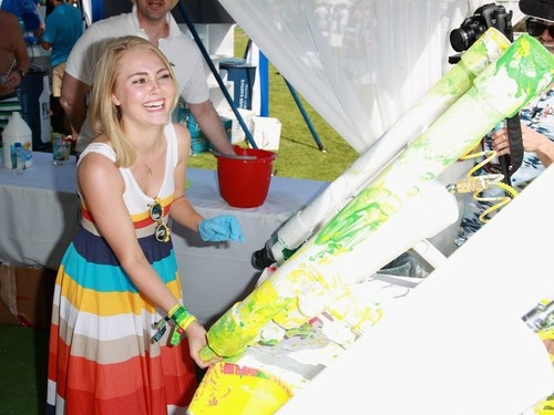AnnaSophia Robb at LACOSTE L!VE 4th Annual Desert Pool Party in Palm Springs on April 13, 2013