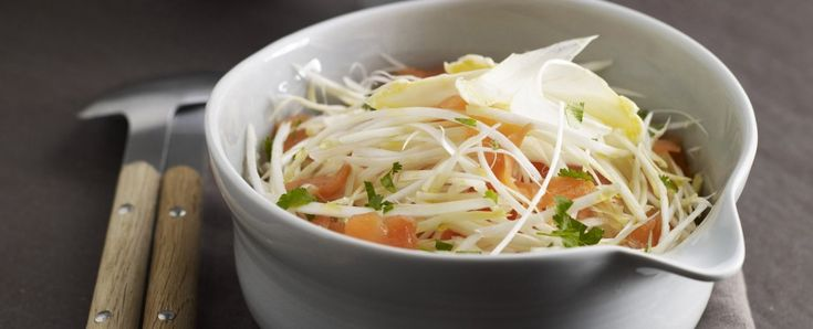 insalata di asparagi bianchi e trota affumicata Sale&Pepe
