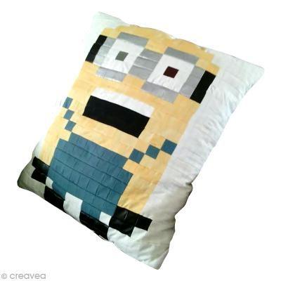 Inspiration Minion coussin en patchwork