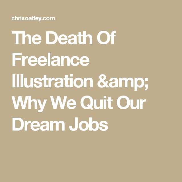 The Death Of Freelance Illustration & Why We Quit Our Dream Jobs