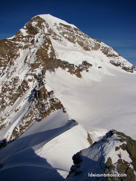 O pico Jungfraujoch