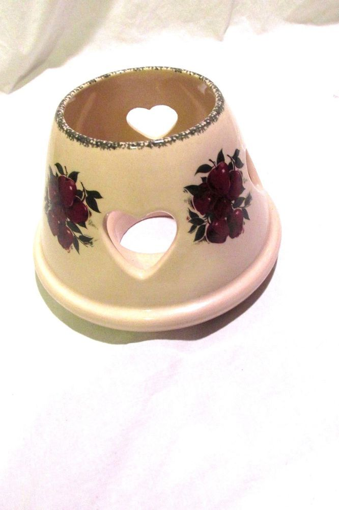 Home and Garden Candle Jar Shade Apples Country Theme