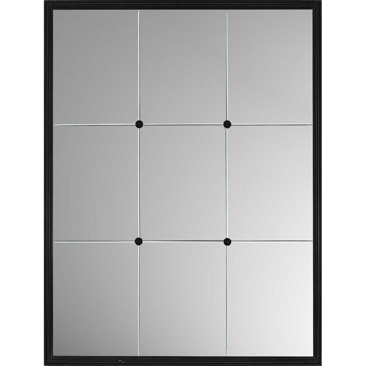 Windowpane Reflections Contemporary Wall Mirror