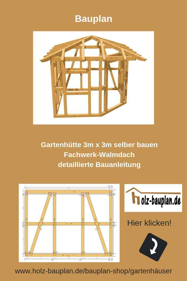 Beliebt professioneller Bauplan als PDF zum download - Hütte selber bauen OY35