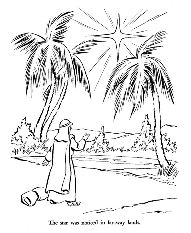 Christmas Coloring Pages Bible