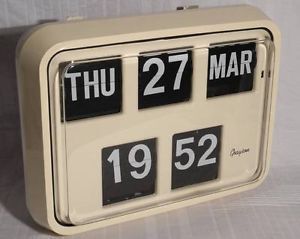Vintage Retro Grayson Mains Operated Bank Post Office Digital Wall Flip Clock | eBay