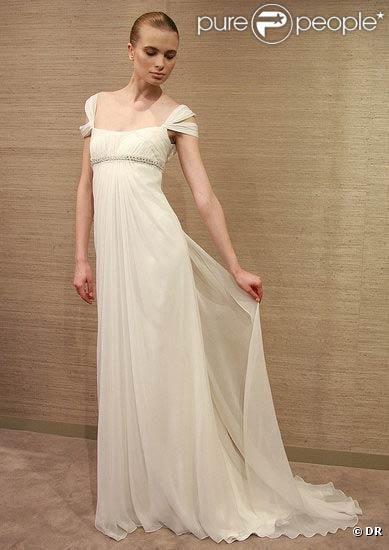 Robe de mariée, simple et immaculé revue et corrigée par la Angel Sanchez