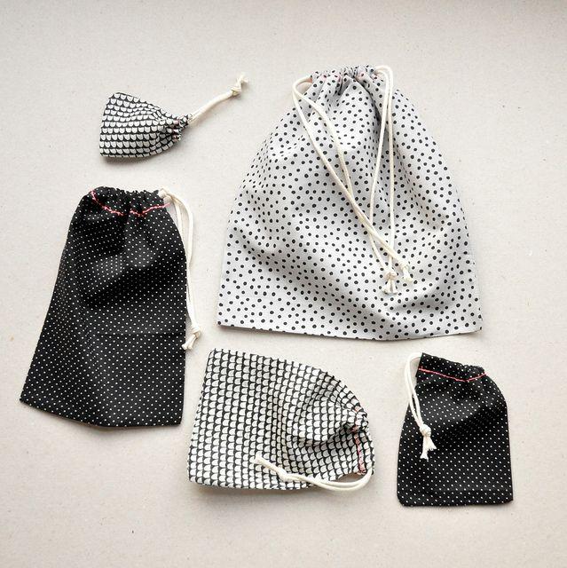 DIY drawstring gift bags