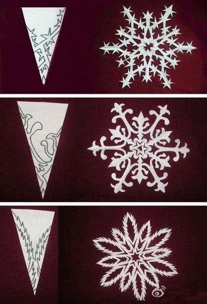 copos de nieve papel