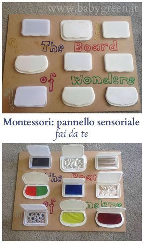 Montessori: do-it-yourself sensory panel – BabyGreen
