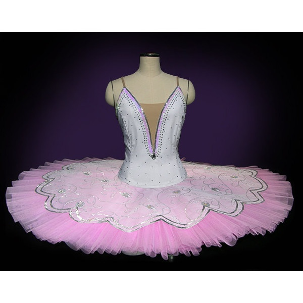 Ballet tutu beautiful professional white and pink ballet for Pin the tutu on the ballerina template