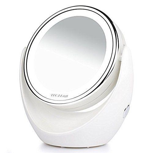🔥-60%🔥. Spaire Specchio per Trucco 10X / 1X Doppia Faccia con Luce LED Specchio Illuminato d'Ingrandimento con 360 Gradi Rotazione per Cosmetici e Cura della Pelle
