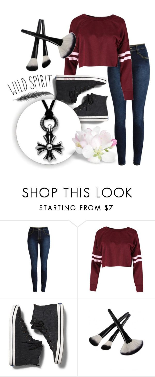 """""""Wild Spirit"""" by rose-chan-needs-a-life ❤ liked on Polyvore featuring Keds and Chrome Hearts"""