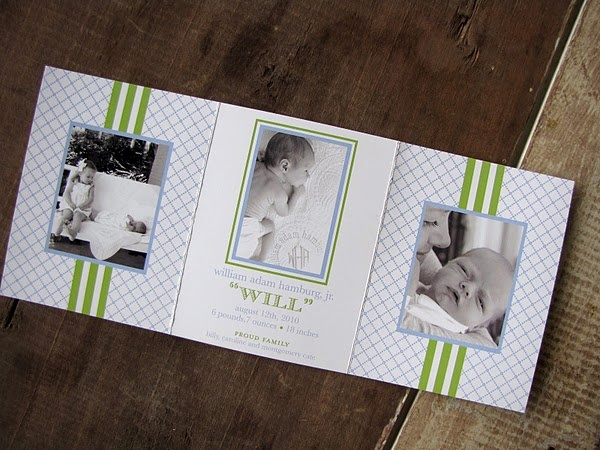 58 best Babies images – Tri Fold Birth Announcement