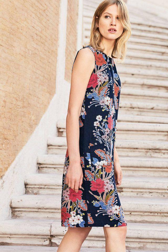 Next Kleid aus Velours-Stoff online kaufen | Leinenkleid ...