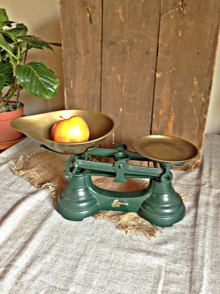 vintage kitchen scales iron u brass scales old scales rustic scales kitchen weighing scales balance scale family scales retro scales