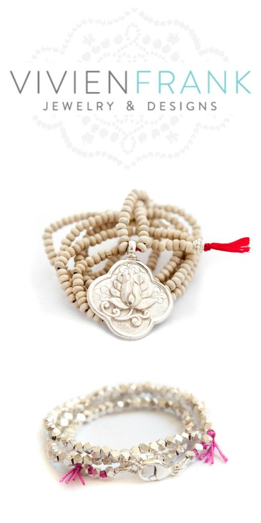 Long Tulsi Wood Lotus Flower Necklace Lotus Flower