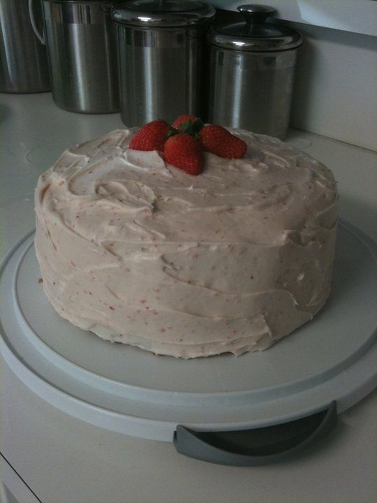 Strawberry Cake with Strawberry Cream Cheese Frosting I am going to ...