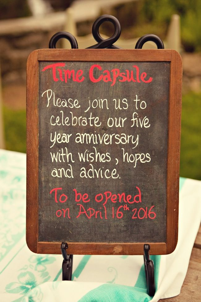 10 Creative Wedding Guest Book Ideas Time Capsule Idea What If There Was A Box For Different Anniversaries And Guests Choose Which To Add