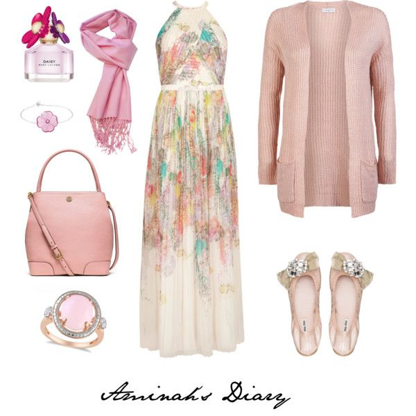 http://aminahshijabdiary.wordpress.com/ #hijab #fashion #muslimah #ootd #outfit #look #style #dress #cardigan #print #rose #pink #sweet #summer