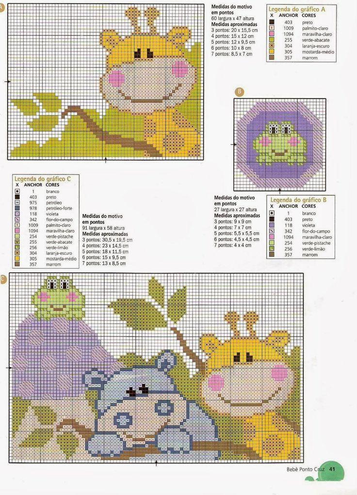 667 best Pequeos motivos infantiles en punto de cruz images on