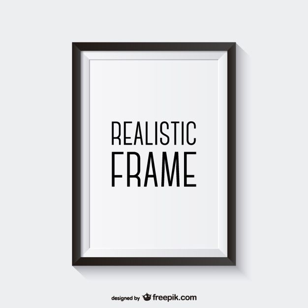Realistic black frame Free Vector