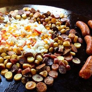 Grilled Sausage, Peppers, Onions & Potatoes - Evo, Inc. - Official Site