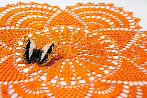 Crochet Doily tabletop decor lace centerpiece by TableTopJewels, $48.00