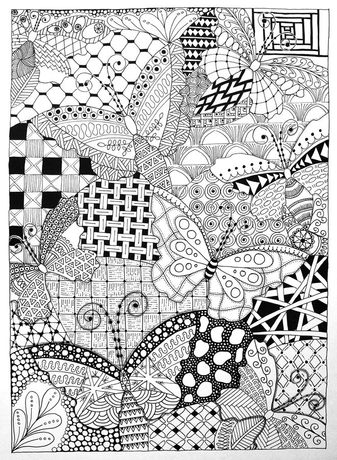 zentangle_butterflies
