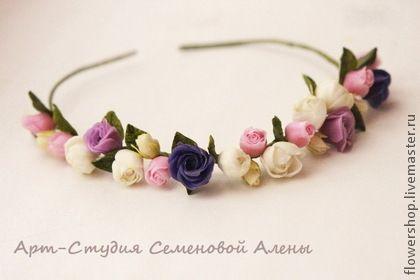 Цветочный веночек - венок,венок из цветов,венок на голову,цветочный венок