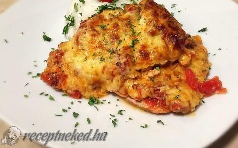 Paradicsomos-sajtos csirkecombok recept fotóval