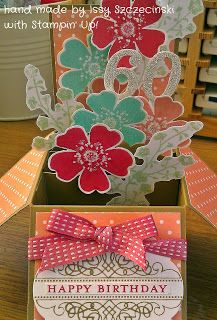 Stampin' Up! Morning Meadow hostess stamp set used in 'card in a box' for 60th birthday