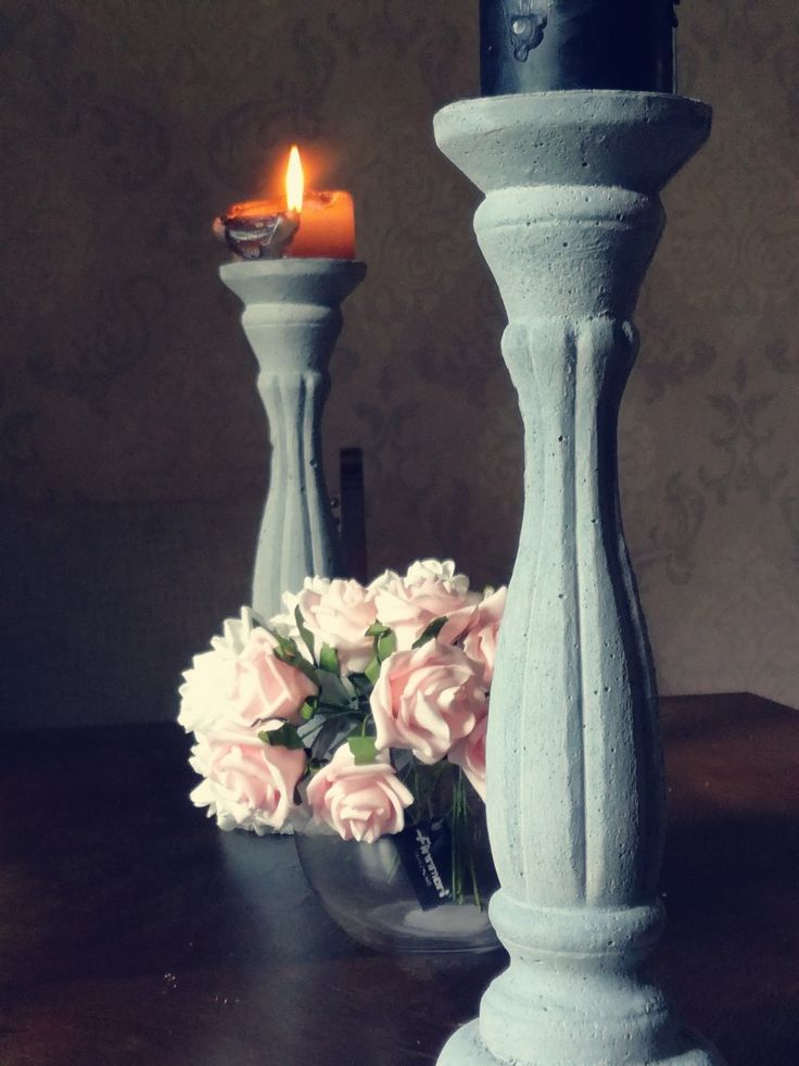 Kynttilänjalat betonista