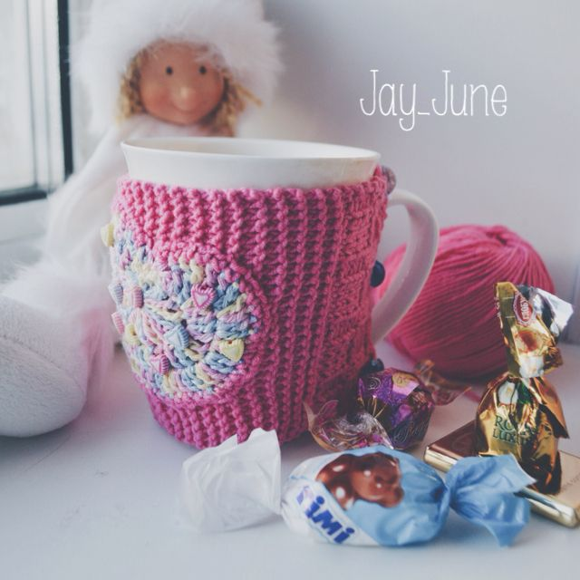 Knitted mug cosy | DIY | Handmade | Knitting | Handy craft