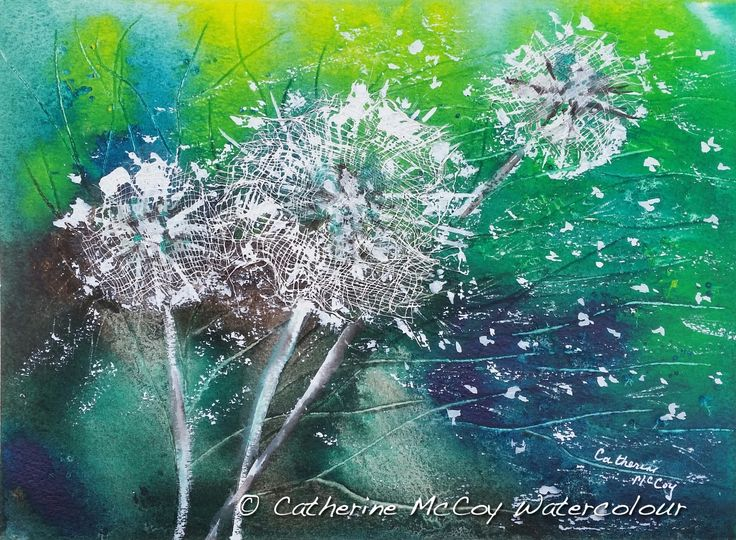 """Blown Away! Watercolour 8"""" x 10"""" by Catherine McCoy"""