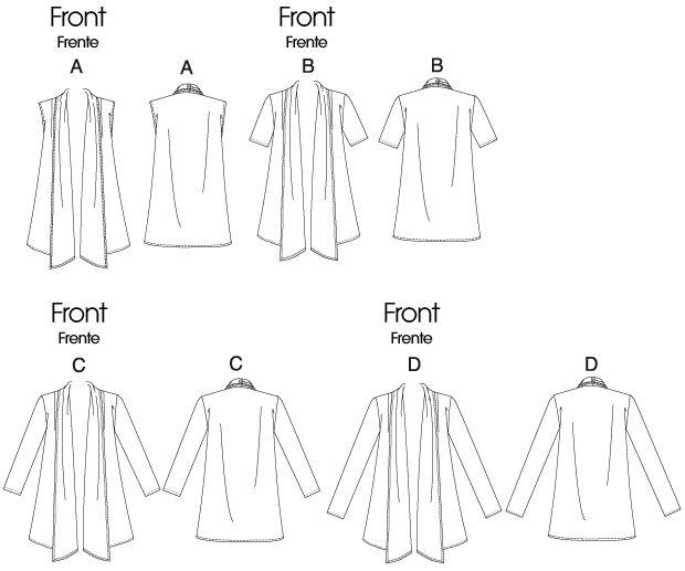 M6084 | McCall's Pattern, woven fabric