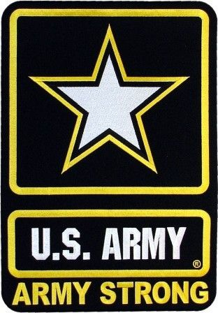 U.S.Army Strong embroidered patch. Officially licensed by the U.S. Army; royalties paid go to the MWR.